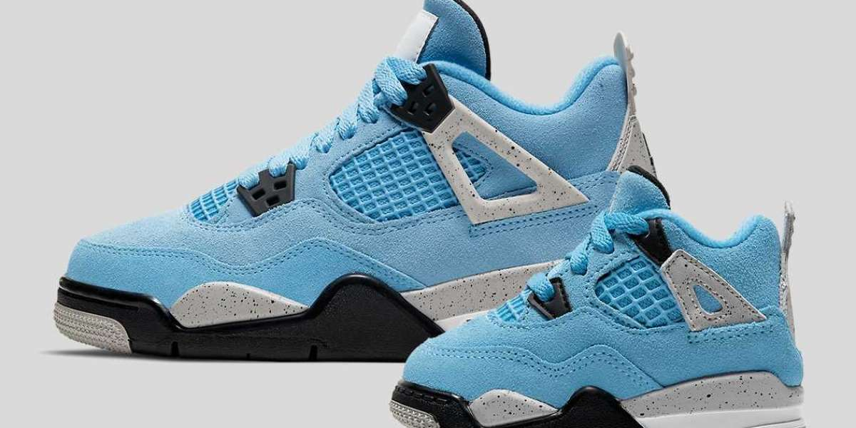 """Air Jordan 4 """"University Blue"""" CT8527-400 will soon be available in children's sizes"""